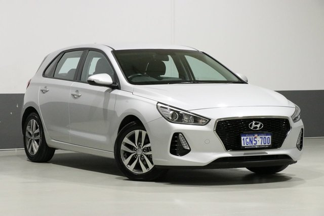 Used Hyundai i30 PD Active, 2018 Hyundai i30 PD Active Silver 6 Speed Auto Sequential Hatchback