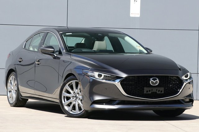 New Mazda 3 BP2SLA G25 SKYACTIV-Drive Astina Wollongong, 2021 Mazda 3 BP2SLA G25 SKYACTIV-Drive Astina Machine Grey 6 Speed Sports Automatic Sedan
