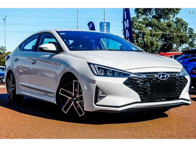 New Hyundai Elantra AD.2 MY20 Sport DCT, 2019 Hyundai Elantra AD.2 MY20 Sport DCT Polar White 7 Speed Sports Automatic Dual Clutch Sedan