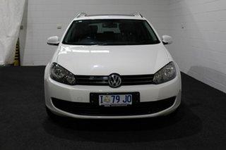 2012 Volkswagen Golf VI MY12.5 118TSI DSG Comfortline White 7 Speed Sports Automatic Dual Clutch.