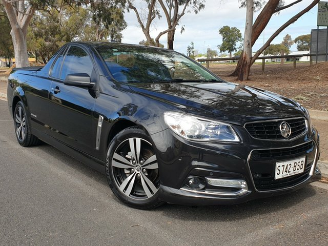 Used Holden Ute VF MY14 SV6 Ute Storm, 2014 Holden Ute VF MY14 SV6 Ute Storm Black 6 Speed Sports Automatic Utility