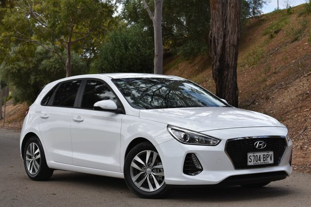 Used Hyundai i30 GD4 Series II MY17 Active, 2017 Hyundai i30 GD4 Series II MY17 Active White 6 Speed Sports Automatic Hatchback