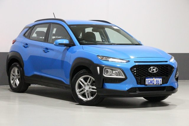 Used Hyundai Kona OS Active (FWD), 2018 Hyundai Kona OS Active (FWD) Blue 6 Speed Automatic Wagon