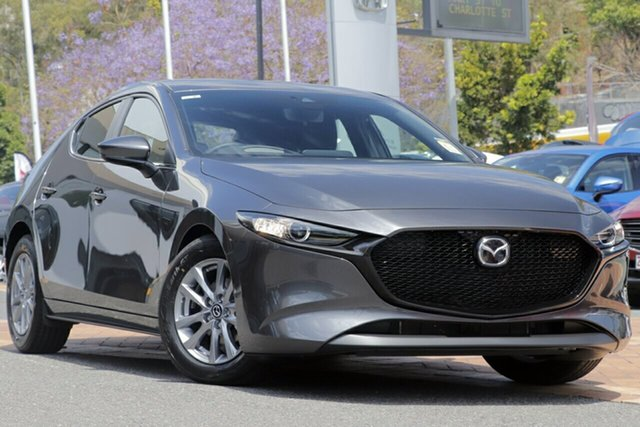 New Mazda 3 BP2H76 G20 SKYACTIV-MT Pure, 2019 Mazda 3 BP2H76 G20 SKYACTIV-MT Pure Machine Grey 6 Speed Manual Hatchback