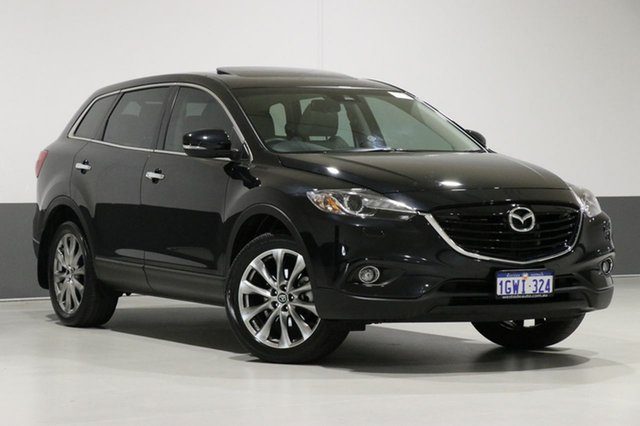 Used Mazda CX-9 MY14 Grand Touring, 2015 Mazda CX-9 MY14 Grand Touring Black 6 Speed Auto Activematic Wagon