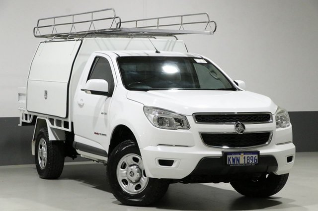 Used Holden Colorado RG LX (4x4), 2013 Holden Colorado RG LX (4x4) White 5 Speed Manual Cab Chassis