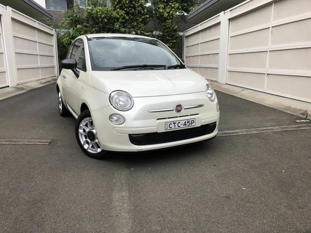 Used Fiat 500 Series 1 POP, 2013 Fiat 500 Series 1 POP White 5 Speed Manual Hatchback