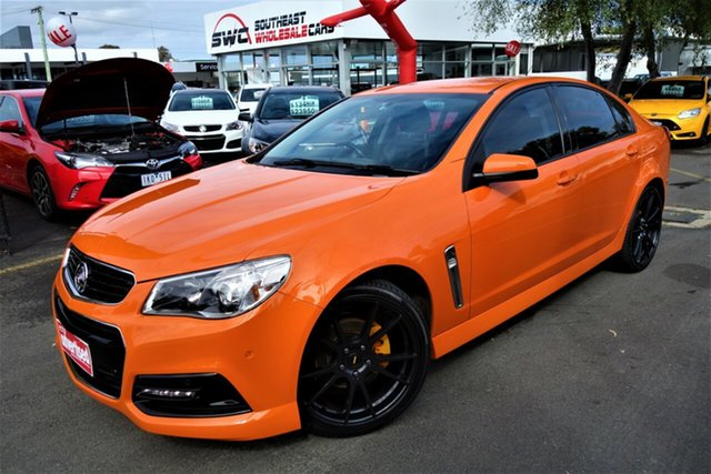 Used Holden Commodore VF MY14 SV6, 2013 Holden Commodore VF MY14 SV6 Orange 6 Speed Manual Sedan