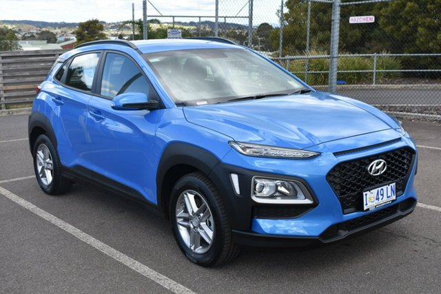 Demo Hyundai Kona OS.2 MY19 Active D-CT AWD, 2019 Hyundai Kona OS.2 MY19 Active D-CT AWD Blue Lagoon 7 Speed Sports Automatic Dual Clutch Wagon