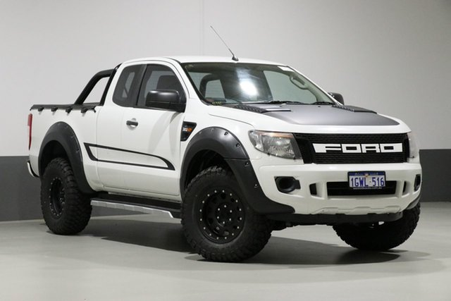 Used Ford Ranger PX XL 3.2 (4x4), 2012 Ford Ranger PX XL 3.2 (4x4) White 6 Speed Manual Super Cab Utility