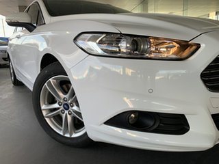 2015 Ford Mondeo MD Ambiente PwrShift White 6 Speed Sports Automatic Dual Clutch Wagon.