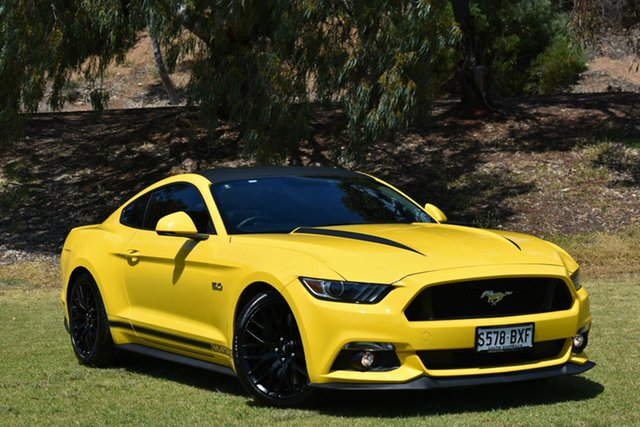 Used Ford Mustang FM 2017MY GT Fastback, 2017 Ford Mustang FM 2017MY GT Fastback Triple Yellow 6 Speed Manual Fastback