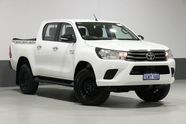 Used Toyota Hilux GUN126R SR (4x4), 2015 Toyota Hilux GUN126R SR (4x4) White 6 Speed Automatic Dual Cab Utility