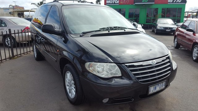 Used Chrysler Grand Voyager RG 4th Gen MY05 LX, 2005 Chrysler Grand Voyager RG 4th Gen MY05 LX Black 4 Speed Automatic Wagon