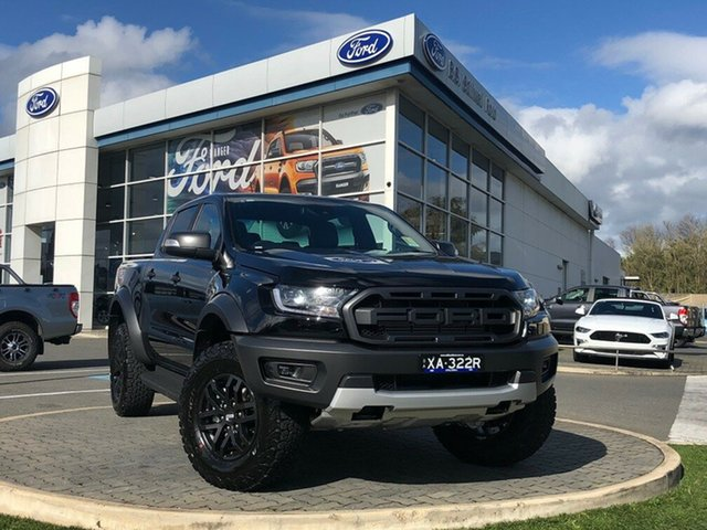 Demo Ford Ranger PX MkIII 2019.75MY Raptor Pick-up Double Cab, 2019 Ford Ranger PX MkIII 2019.75MY Raptor Pick-up Double Cab Shadow Black 10 Speed Sports Automatic