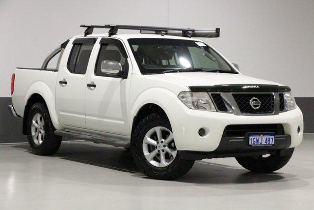 Used Nissan Navara D40 ST-X (4x4), 2010 Nissan Navara D40 ST-X (4x4) White 5 Speed Automatic Dual Cab Pick-up