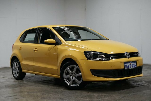 Used Volkswagen Polo 6R MY12 77TSI DSG Comfortline, 2011 Volkswagen Polo 6R MY12 77TSI DSG Comfortline Yellow 7 Speed Sports Automatic Dual Clutch