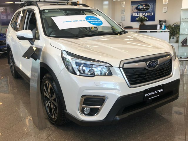 New Subaru Forester S5 MY19 2.5i Premium CVT AWD, 2019 Subaru Forester S5 MY19 2.5i Premium CVT AWD Crystal White Pearl 7 Speed Constant Variable
