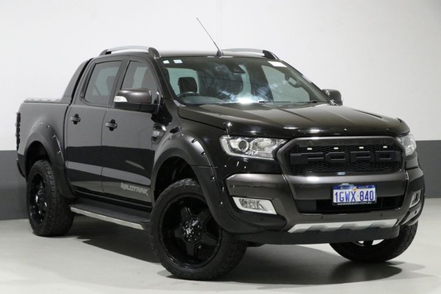 Used Ford Ranger PX MkII MY18 Wildtrak 3.2 (4x4), 2017 Ford Ranger PX MkII MY18 Wildtrak 3.2 (4x4) Black 6 Speed Automatic Dual Cab Pick-up