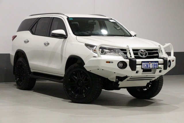 Used Toyota Fortuner GUN156R MY18 GXL, 2018 Toyota Fortuner GUN156R MY18 GXL Crystal Pearl 6 Speed Automatic Wagon