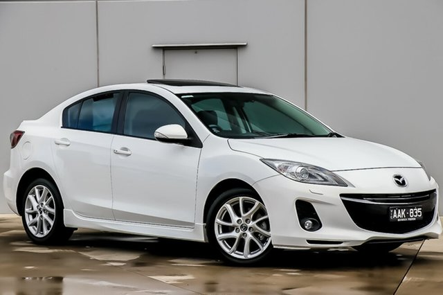 Used Mazda 3 BL10L2 MY13 SP25 Activematic, 2013 Mazda 3 BL10L2 MY13 SP25 Activematic Crystal White Pearl 5 Speed Sports Automatic Sedan