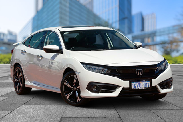 Used Honda Civic 10th Gen MY18 RS, 2018 Honda Civic 10th Gen MY18 RS White Orchid 1 Speed Constant Variable Sedan