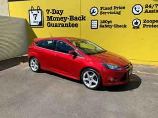 2013 Ford Focus LW MkII Titanium PwrShift Red 6 Speed Sports Automatic Dual Clutch Hatchback.