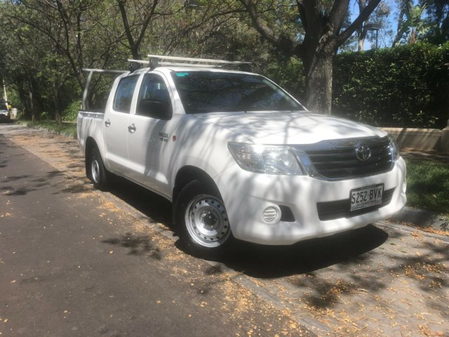 Used Toyota Hilux GGN15R MY14 SR Double Cab 4x2, 2014 Toyota Hilux GGN15R MY14 SR Double Cab 4x2 White 5 Speed Automatic Utility