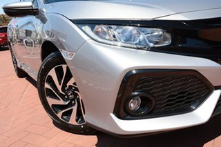 2019 Honda Civic 10th Gen MY19 VTi-S Lunar Silver 1 Speed Constant Variable Hatchback.