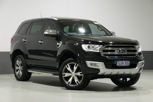 Used Ford Everest UA Titanium, 2015 Ford Everest UA Titanium Black 6 Speed Automatic Wagon