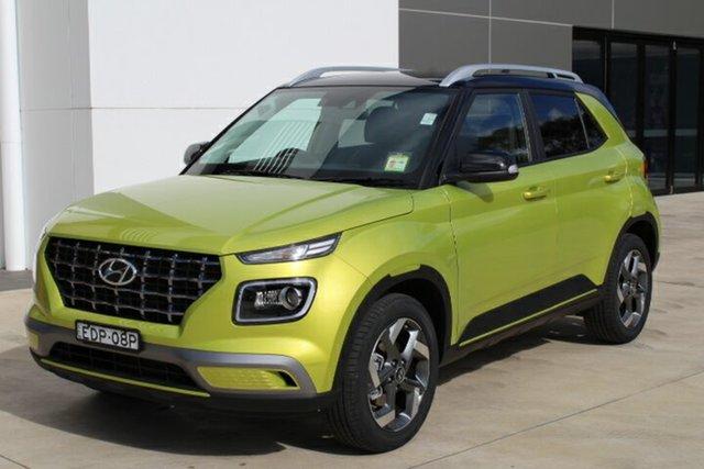 Demo Hyundai Venue QX MY20 Elite, 2019 Hyundai Venue QX MY20 Elite Acid Yellow & Phantom Black Roof 6 Speed Automatic Wagon