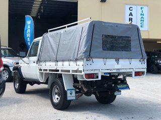 1999 Toyota Landcruiser HZJ79R White 5 Speed Manual Cab Chassis.