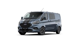 2020 Ford Transit Custom VN 2019.75MY 320L (Low Roof) Sport Blue 6 Speed Automatic Double Cab Van.