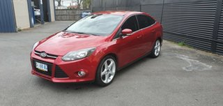 2011 Ford Focus LW Titanium PwrShift Red 6 Speed Sports Automatic Dual Clutch Sedan