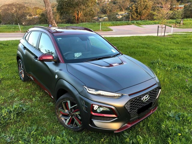 Demo Hyundai Kona OS.2 MY19 Iron Man Edition D-CT AWD, 2019 Hyundai Kona OS.2 MY19 Iron Man Edition D-CT AWD 7 Speed Sports Automatic Dual Clutch Wagon
