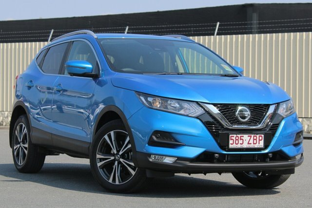 Demo Nissan Qashqai J11 Series 2 ST-L X-tronic, 2019 Nissan Qashqai J11 Series 2 ST-L X-tronic Vivid Blue 1 Speed Constant Variable Wagon