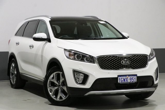 Used Kia Sorento UM MY17 Platinum (4x4), 2017 Kia Sorento UM MY17 Platinum (4x4) White 6 Speed Automatic Wagon