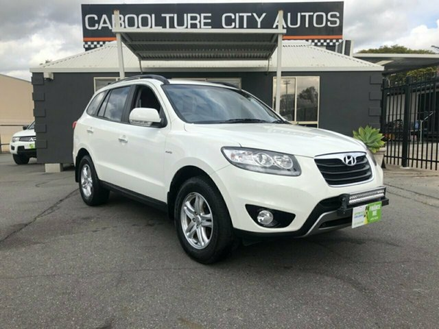 Used Hyundai Santa Fe CM MY12 Elite CRDi (4x4), 2011 Hyundai Santa Fe CM MY12 Elite CRDi (4x4) White 6 Speed Automatic Wagon