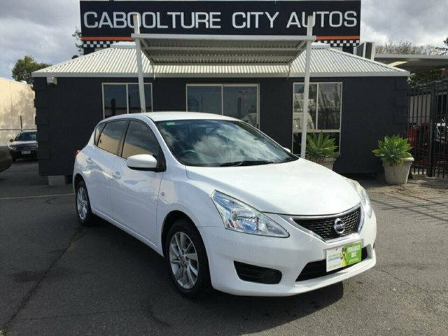 Used Nissan Pulsar C12 ST, 2013 Nissan Pulsar C12 ST White Continuous Variable Hatchback