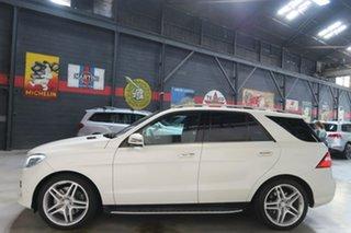 2014 Mercedes-Benz M-Class W166 MY805 ML500 7G-Tronic + White 7 Speed Sports Automatic Wagon