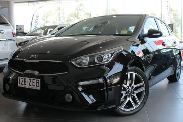 Used Kia Cerato BD MY19 Sport, 2019 Kia Cerato BD MY19 Sport Aurora Black Pearl 6 Speed Sports Automatic Hatchback