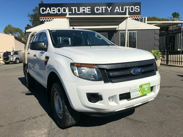 Used Ford Ranger PX XL 2.2 (4x4), 2011 Ford Ranger PX XL 2.2 (4x4) White 6 Speed Manual Crew Cab Chassis
