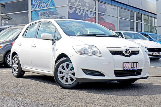Used Toyota Corolla ZRE152R Ascent, 2008 Toyota Corolla ZRE152R Ascent White 6 Speed Manual Hatchback