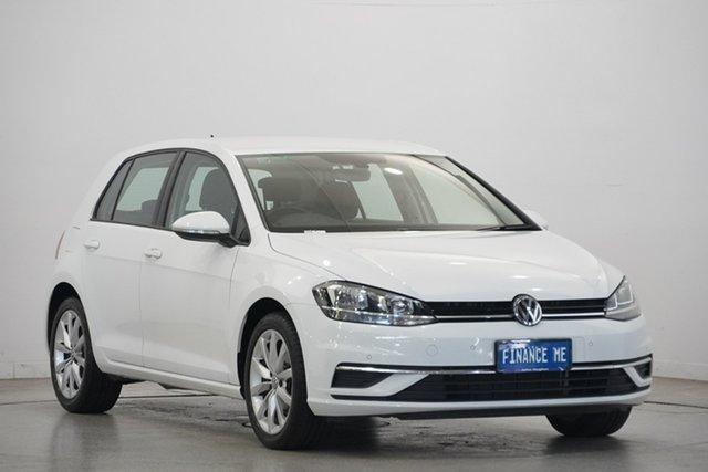 Used Volkswagen Golf 7.5 MY19.5 110TSI DSG Trendline, 2019 Volkswagen Golf 7.5 MY19.5 110TSI DSG Trendline Pure White 7 Speed Sports Automatic Dual Clutch