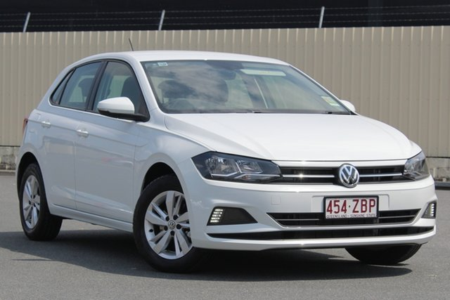Demo Volkswagen Polo AW MY19 85TSI DSG Comfortline, 2019 Volkswagen Polo AW MY19 85TSI DSG Comfortline Pure White 7 Speed Sports Automatic Dual Clutch