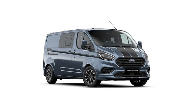 New Ford Transit Custom VN 2019.75MY 320L Low Roof LWB Sport, 2020 Ford Transit Custom VN 2019.75MY 320L Low Roof LWB Sport Blue 6 Speed Automatic Van