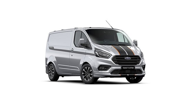 New Ford Transit Custom VN 2020.50MY 320S (Low Roof) Sport Dandenong, 2020 Ford Transit Custom VN 2020.50MY 320S (Low Roof) Sport Moondust Silver 6 Speed Automatic Van