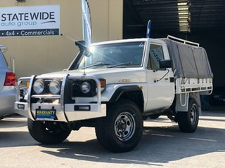 1999 Toyota Landcruiser HZJ79R White 5 Speed Manual Cab Chassis