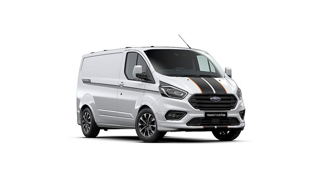New Ford Transit Custom VN 2019.75MY 320S (Low Roof) Sport Christies Beach, 2020 Ford Transit Custom VN 2019.75MY 320S (Low Roof) Sport Frozen White 6 Speed Automatic Van
