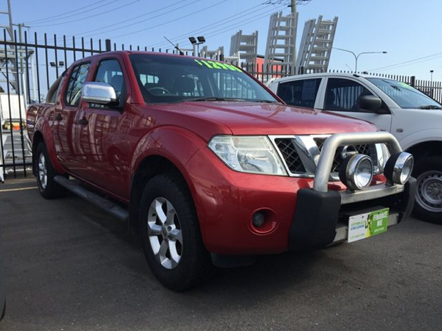 Used Nissan Navara D40 ST-X (4x4), 2010 Nissan Navara D40 ST-X (4x4) Red 6 Speed Manual Dual Cab Pick-up